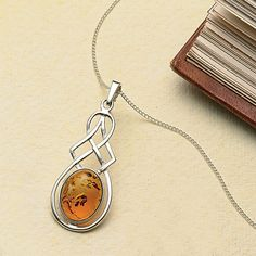 Amber kells pendant