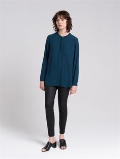 <div>- Wax coated ponti creates a dressy look to this comfortable pant </div>  <div>- Tight pant leg shape</div>  <div>- Pull on waistband </div>  <div>- Flattering design lines that angle across the leg with topstitching detail.</div>  <div></div>  <div>Composition: 66% Viscose, 29% Nylon, 5% Elastane.</div>  <div>Care: Cool hand wash.</div>  <div></div>  <div>Made in Australia.</div>  <div></div> #TheArkClothingCompany