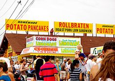 Wisconsin: Elvis on a Stick    West Allis · Aug. 2–12  The Slim McGinn's stand at the Wisconsin State Fair pays homage to legendary musician Elvis Presley and his love for excess with a portable dessert called Elvis on a Stick: a deep fried banana-battered peanut butter cup with bacon.
