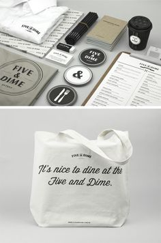 the five & dime identity design by bravo company: