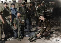 The Warsaw Uprising #1 Soldiers of Group 'Radosław' with some air-dropped PIATs. (The Projector, Infantry, Anti Tank (PIAT) Mk I was a British man-portable anti-tank weapon)