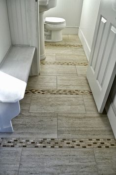 Using accent tiles to augment flooring