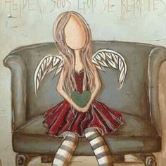A little girl angel. She's waiting for God to deliver her next mission on earth.
