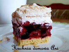 Kuchnia domowa Ani: Malinowa chmurka Cakes, Food, Cake Makers, Kuchen, Essen, Cake, Meals, Pastries, Cookies