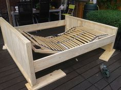 Steiger houten bed