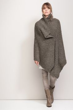 Knitted shrug or poncho, cosy and warm