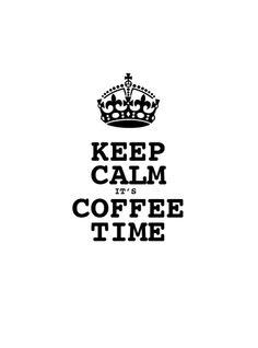Keep Calm Coffe Time 49 x 90