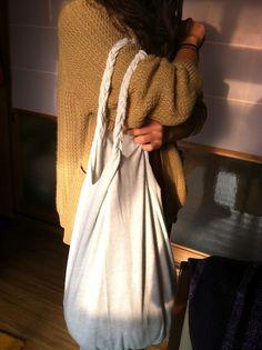 DIY no-sew t-shirt bag | dimples worldwide- great idea!!