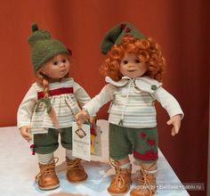 Wichtel.  Dolls by Rosemarie Anna Müller.