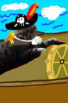 Pretends to be a pirate to catch other bad pirates.   Meet Maya, The Most Artistic Cat On Snapchat