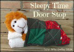 sleepy time door stop tutorial or book ends