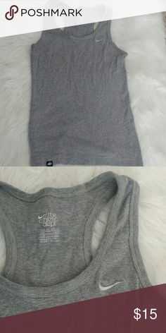 Nike Workout Tank This is a gray Nike workout tank. It is 100% cotton. This is in great condition. Tops Tank Tops