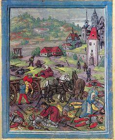 The Swabian War - The Battle of Schwaderloh AD) Medieval Manuscript, Medieval Art, Renaissance Art, Military Art, Military History, Napoleon, Carl Von Clausewitz, Holland, Landsknecht