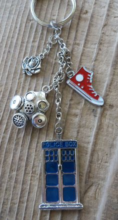 Dr.Who inspired keychain