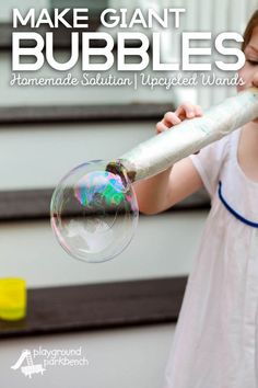 Homemade bubbles are a summer and household essential. And nothing makes bubbles like Dawn. Get the homemade bubble recipe and how-to make your own easy, upcycled bubble blower. Details matter. #PGDetailsMatter (ad) | Summer | Outdoor Fun | Toddler | Pres