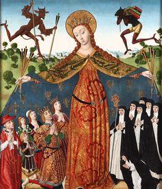 La Virgen de la Misericordia con los Reyes Católicos y su familia.