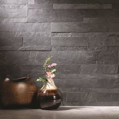 Shop for Aspect 6 x Charcoal Slate Peel and Stick Stone Backsplash. Get free delivery On EVERYTHING* Overstock - Your Online Home Improvement Shop! Get in rewards with Club O! Diy Tile Backsplash, Backsplash Panels, Wall Tiles, Room Tiles, Dark Gray Backsplash, Mosaic Wall, Wall Mural, Wall Decor, Kitchen Tiles