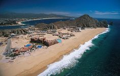 Rocky Point, Mexico. The furthest North you can get in the Gulf of California. Blue water, pretty beaches, desert heat. Amazing hotels, golf, watersports. The village is pretty ugly though! Needs a little cleaning up. Lots of blowing sand.