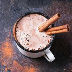 This delicious (and healthy) drink recipe is a chai latte and hot chocolate in one. What could be better?