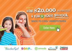 Enter to win BIG in the #Back2cool sweeps - 200+ prizes worth over $20,000 up for grabs (like iPads, gift cards & more)!