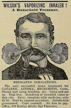 Vaporising inhaler from 1887.