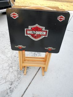 Harley Davidson folding snack tables