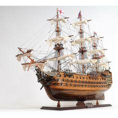 Old Modern Handicraft Hms Victory Mid Size E.E. Boat - T033