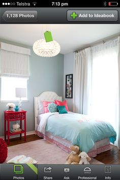Girls bedroom - Blue and PInk bedding