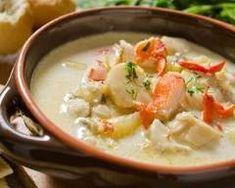 Seeafood Chowder (soupe de poisson irlandaise) : http://www.cuisineaz.com/recettes/seeafood-chowder-soupe-de-poisson-irlandaise-78494.aspx