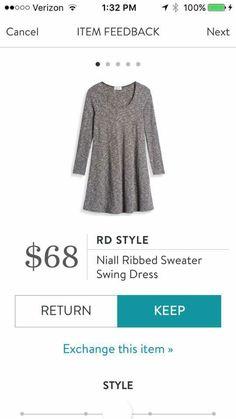 RD Style: Niall Ribbed Sweater Swing Dress. Stitch Fix.