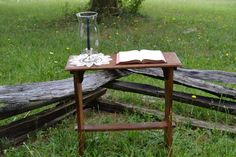 Old table,Bible, Globe, and Doily #rustic #weddings #rusticdecor #rusticweddings #whitebootsbridal