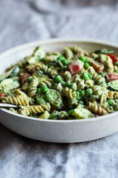 Tahini Pesto Pasta Salad