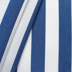 Markisen Outdoorstoff  Streifen  Breite 160cm Farbe Blau-Weiss