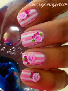 Like the stripes and flowers but probably couldn't deal with the 3D. If I could find a flat flower I'd so do these.