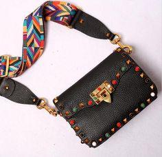 Genuine Leather braided shoulder strap bag