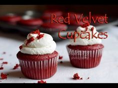 Red Velvet Cupcakes with Gretchen's Bakery famous swiss cream cheese buttercream! Regular and vegan recipes