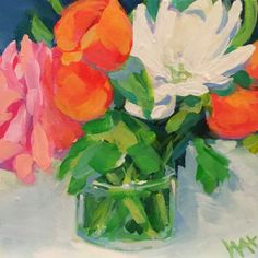 Floral painting by Whitney Heavey whitneyheavey.blogspot.com