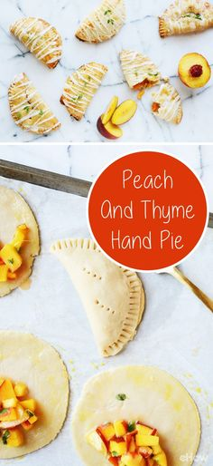 Summer snacking at it's best - Peach Thyme Hand Pies. Sweet, juicy peaches and earthy thyme come together in one cute little, hand-held dessert. http://www.ehow.com/how_12343391_peach-thyme-hand-pie-recipe.html?utm_source=pinterest.com&utm_medium=referral&utm_content=freestyle&utm_campaign=fanpage