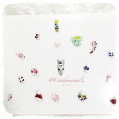 3d kawaii gel nail art frozen Olaf hello kitty Christmas charms Mickey mouse
