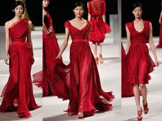 Modelli Elie Saab in rosso