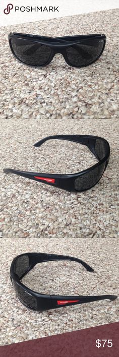 """Arnette Black Sunglasses with Red Temples Arnette black sunglasses with red design on the temples. Frames in excellent condition. Minor scratches on the lenses from wear. Temple reads """"4155-01/87 3N"""". Case not included. Arnette Accessories Sunglasses"""