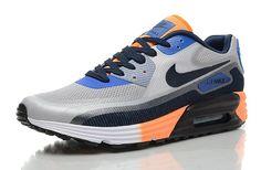 Nike Air Max 90 Lunar C3.0 Heren Grijs, Blauw, Zwart/Oranje Mode