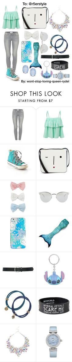 """""""*^& Set Dedication"""" by wont-stop-loving-queen-rydel ❤ liked on Polyvore featuring Paige Denim, LE3NO, Converse, Lulu Guinness, Decree, Fendi, Vera Bradley, M&Co, Disney and Lucky Brand"""