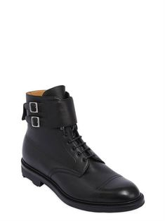 EDWARD GREEN, Kentmere pebbled leather boots, Black