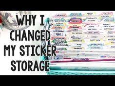 How To Organize Your Favorite Planner Supplies Sticker Storage, Sticker Organization, Paper Organization, Organizing Life, Organizing Ideas, Craft Stickers, Scrapbook Stickers, Planner Stickers, Paper Scrapbook