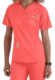 Med Couture Sport Crossover V-neck Scrub Tops Medical Uniforms, Work Uniforms, Nursing Wear, Nursing Clothes, Med Couture Scrubs, Medical Scrubs, Nurse Scrubs, Scrub Tops, V Neck Tops