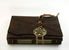 Medieval Secret - Dark Chocolate Brown Leather Journal.