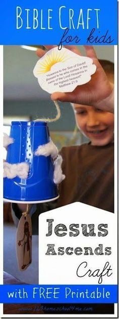 Jesus Ascends Bible Craft is perfect for at home, homeschool or Sunday School for kids in grade. sunday school crafts printables Jesus Ascends Bible Craft for Kids Sunday School Crafts For Kids, Bible School Crafts, Bible Crafts For Kids, Sunday School Activities, Bible Lessons For Kids, Sunday School Lessons, Kids Bible, Toddler Bible, Kid Activities