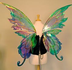 Large Fairy Wings @ Etsy. Seller: TheFancyFairy. Get it @ http://www.etsy.com/listing/92330648/delia-3-panel-large-fairy-wings-in-your