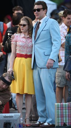 Loving Amy Adams' vintage-inspired wardrobe in the Muppets movie.
